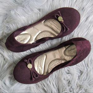 DexFlex Comfort Purple Ballet Flats